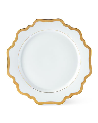 Antiqued White Dinner Plate