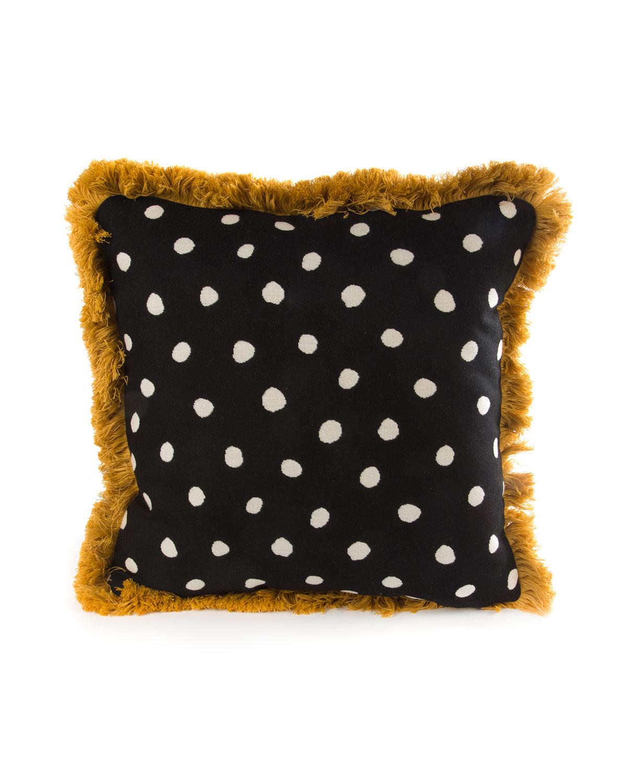 Reversible Dotty Throw Pillow