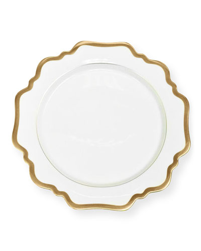 Antiqued White Dessert Plate