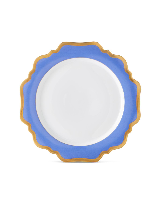 Anna Weatherley INDIGO RIMMED DINNER PLATE