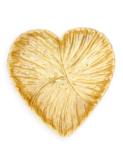 Medium Brass Heart Dish