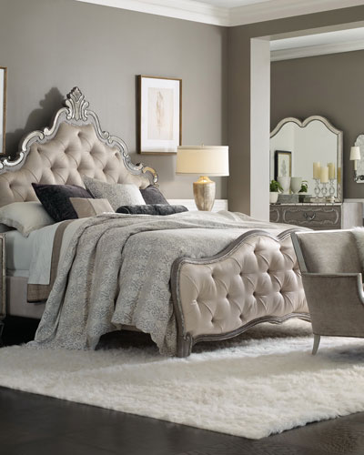 Juliet Tufted King Panel Bed