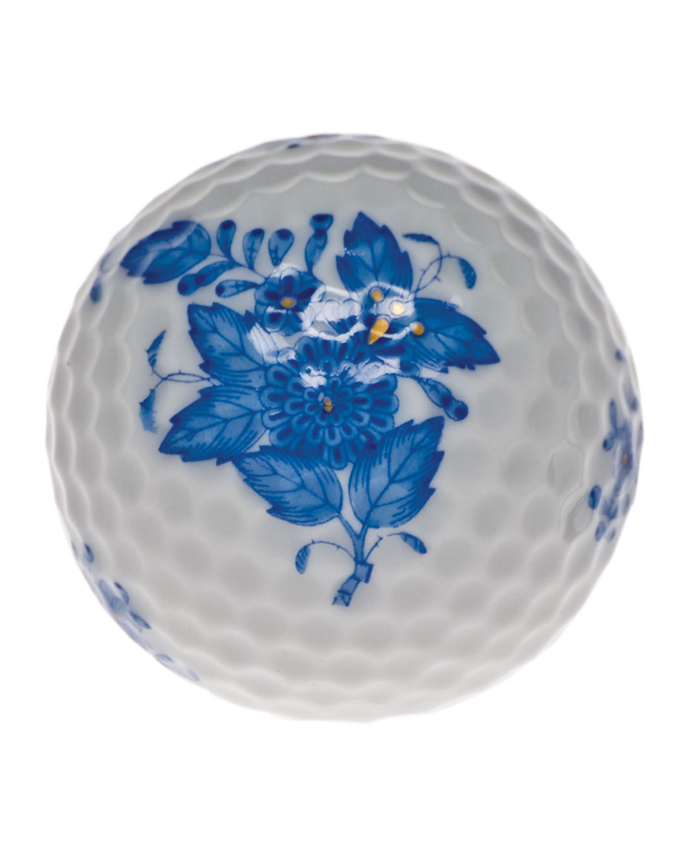 Herend CHINESE BOUQUET BLUE GOLF BALL