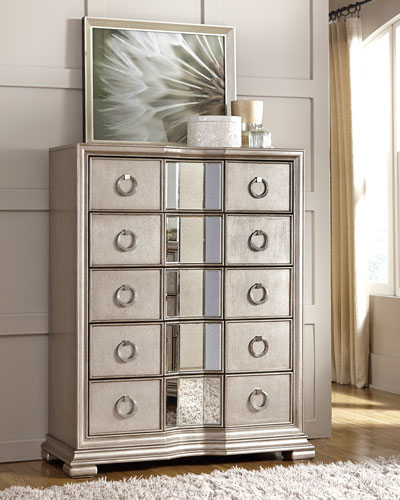 Vivian Mirrored 5-Drawer Chest