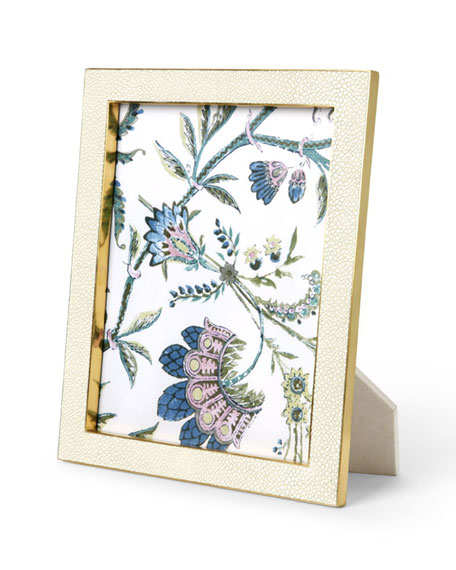 """AERIN Cream Faux-Shagreen 8"""" x 10"""" Picture Frame"""