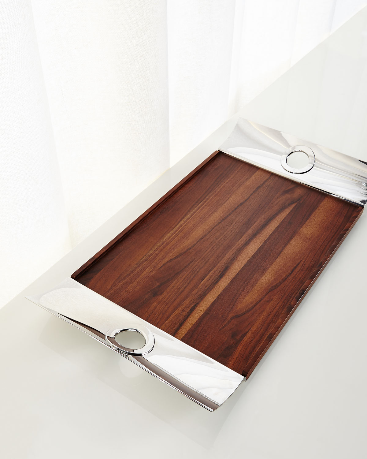 Christofle Clothing OH DE CHRISTOFLE RECTANGLE TRAY WITH WOOD