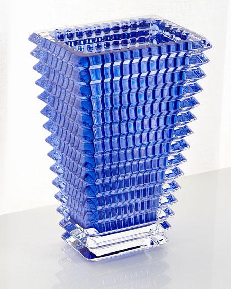 Baccarat Blue Eye Small Rectangular Vase