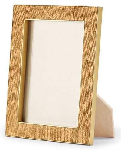 Gold Linen Photo Frame, 4