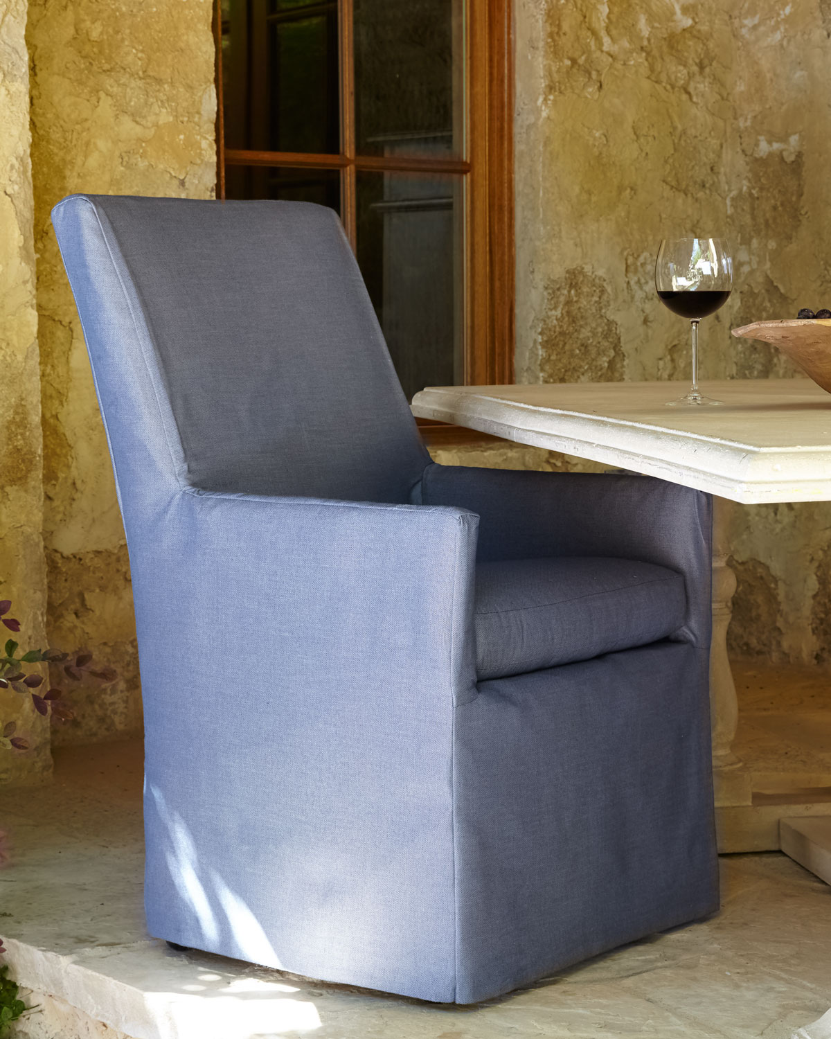 Blue Bennett Outdoor Dining Armchair