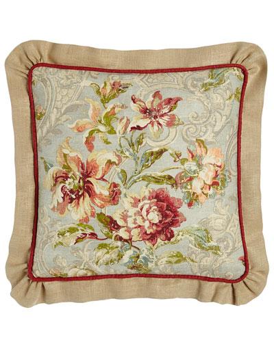 Fresco Ruffled Square Pillow