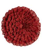 Fresco Round Ruffle Pillow