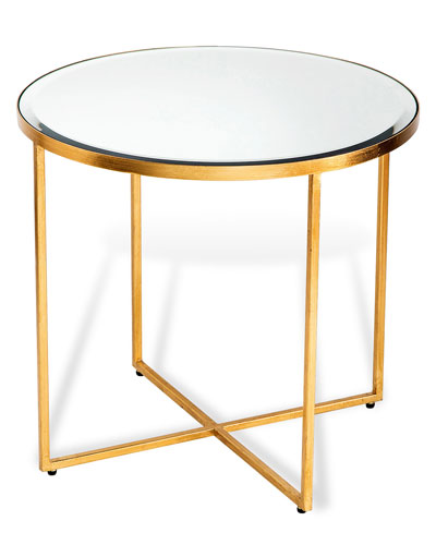 Marissa Gold-Leaf Side Table
