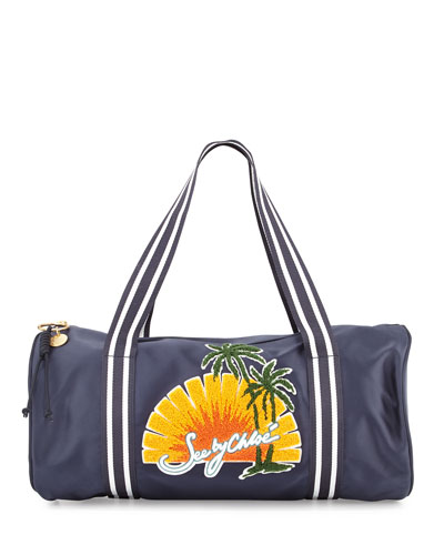 Sun Nylon Duffel Bag, Navy/Multi