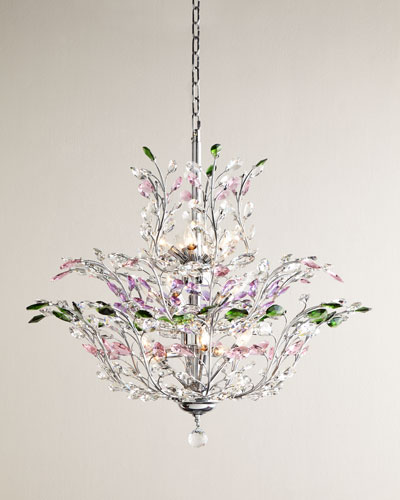 Multicolor Upside Down 18-Light Chandelier