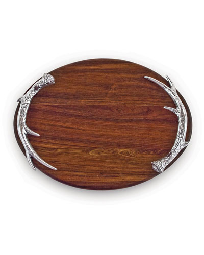 Western Antler Large Oval Cutting Board