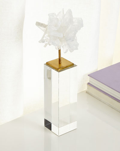 Tall Selenite Blossom on Stand
