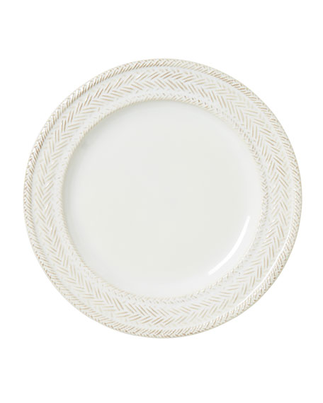 Juliska Le Panier Whitewash Dessert/Salad Plate
