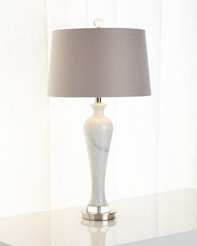 Alabaster Column Table Lamp