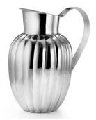 silhouette scallop pitcher