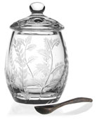 Fern Covered Honey Jar