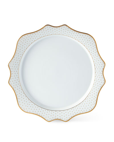 Simply Anna Antique Polka Charger Plate