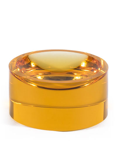 Yellow Round Convex Bowl