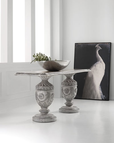 DOUBLE URN CONSOLE TABLE