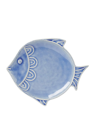 Berry & Thread Blue Fish Dessert/Salad Plate