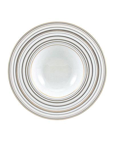 Attraction Gold & Platinum Rim Soup Plate