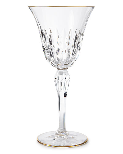 Stella Water Goblet with Gold Rim