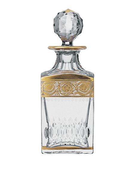 Saint Louis Crystal Thistle Gold Decanter