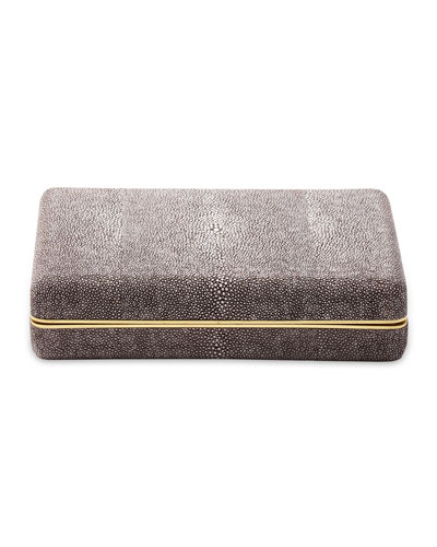 Chocolate Shagreen Card Case