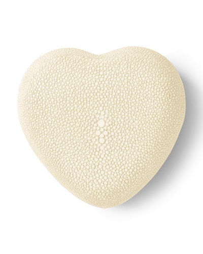 Embossed Shagreen Heart Box