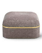 Chocolate Faux-Shagreen Square Box