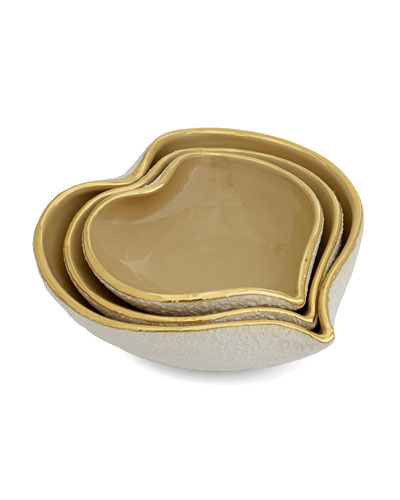 Tulip Nesting Heart Dishes, 3-Piece Set