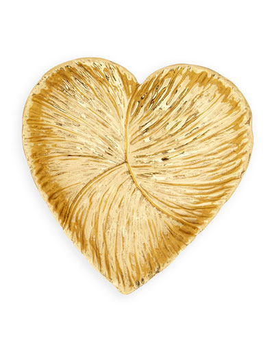 Large Brass Heart Dish