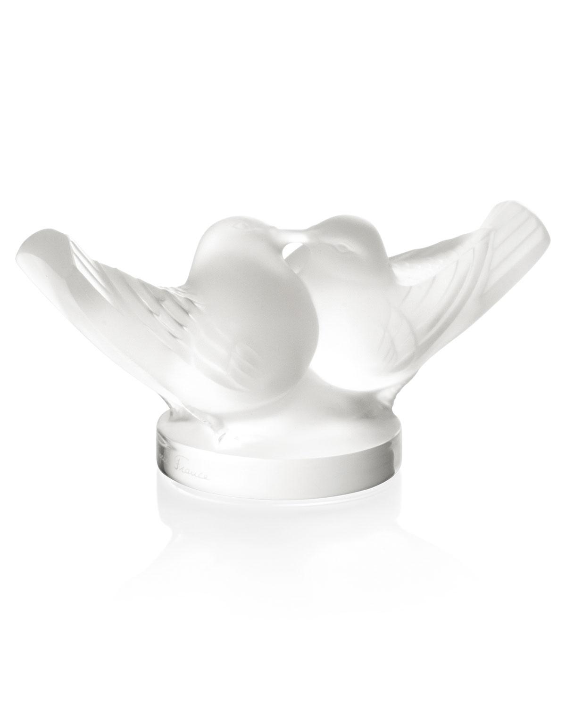 Lalique Clothing LOVEBIRDS SCULPTURE