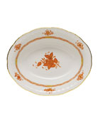 Chinese Bouquet Rust Open Vegetable Dish