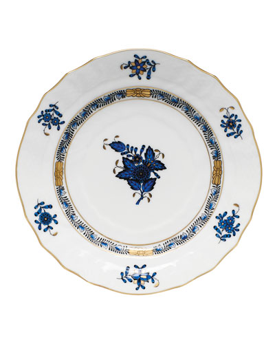 Chinese Bouquet Black Sapphire Bread & Butter Plate
