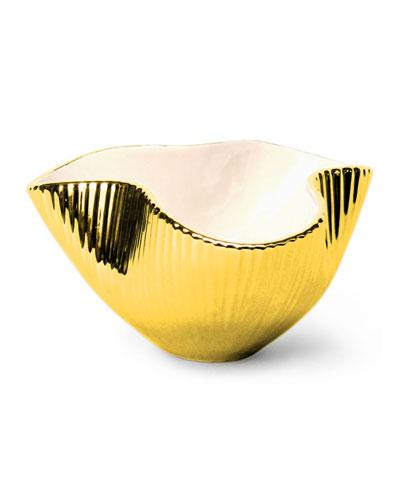 Small Metallic Pinch Bowl