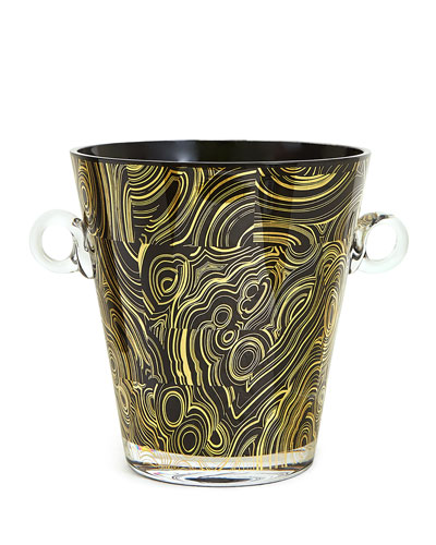 Malachite-Pattern Ice Bucket