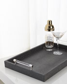 Dark Gray Shagreen Tray