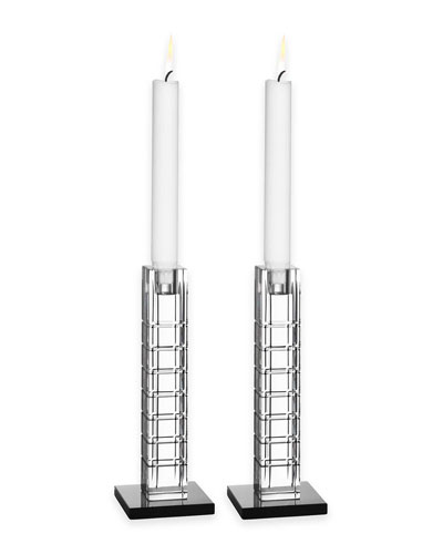 Street Candleholders, Set of 2