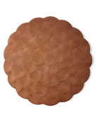 "Four 14"" Round Capiz Shell Placemats"
