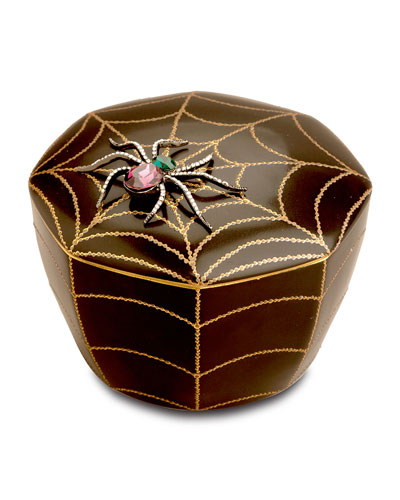 Black Spider Candle
