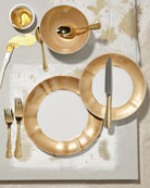 12-Piece Gold Brushstroke Dinnerware Service