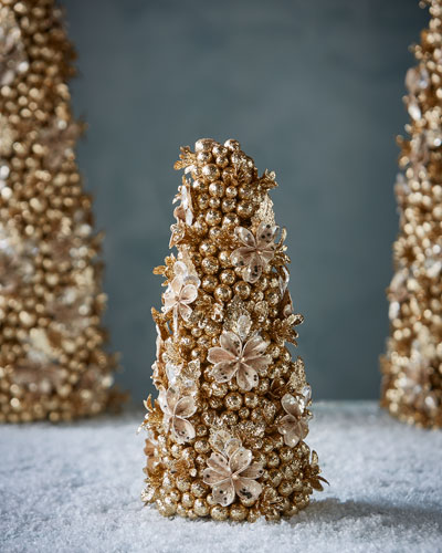 Champagne Flower Christmas Tree, 12