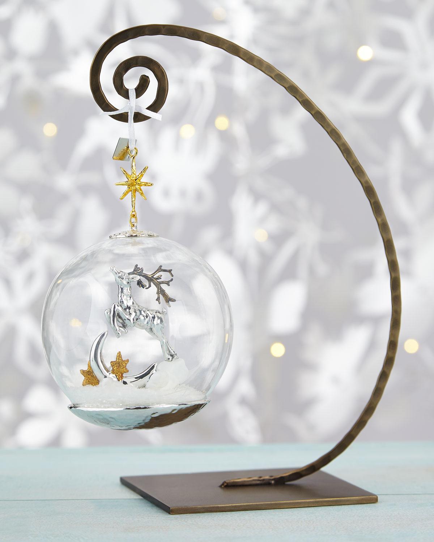 Reindeer Globe Christmas Ornament