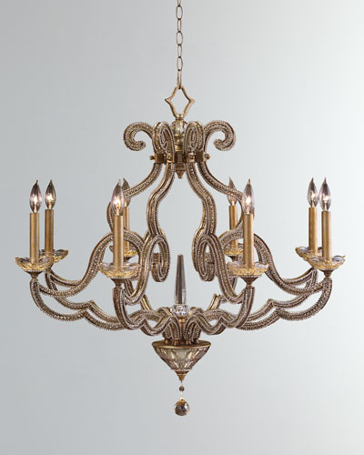 4a2796b0c329 Quick Look. John-Richard Collection · Beaded Elegance 8-Light Scroll  Chandelier. Available in Gold