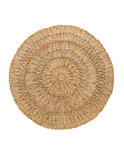 Straw Loop Round Placemat